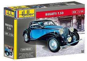 Heller Bugatti T50 Car Plastic Model Car Kit 1/24 Scale #80706