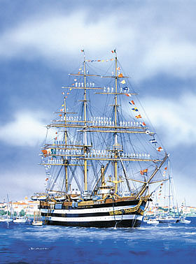 Heller Amerigo Vespucci Sailing Ship Plastic Model Sailing Ship Kit 1/150 Scale #80807