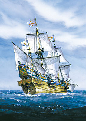 Heller Golden Hind Sailing Ship -- Plastic Model Sailing Ship Kit -- 1/200 Scale -- #80829