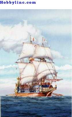 Heller Spanish Galleon Sailing Ship Plastic Model Sailing Ship Kit 1/200 Scale #80835
