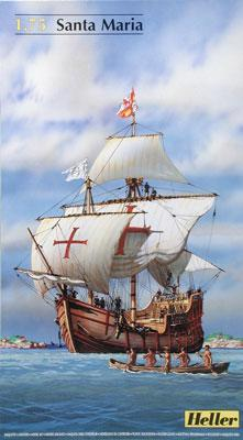 Heller Santa Maria Sailing Ship -- Plastic Model Sailing Ship Kit -- 1/75 Scale -- #80865