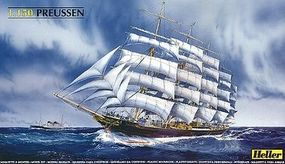 Heller Preussen Sailing Ship Plastic Model Sailing Ship Kit 1/150 Scale #80894