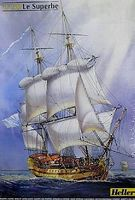Heller Le Superbe 3-Masted Sailing Ship Plastic Model Sailing Ship Kit 1/150 Scale #80895