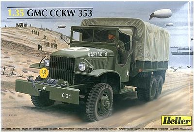 Heller GMC CCKW 353 Plastic Model Military Vehicle 1/35 Scale #81121