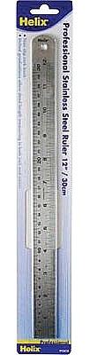 Helix Graphic Art Supplies 24'' (60cm) Professional Stainless Steel Ruler