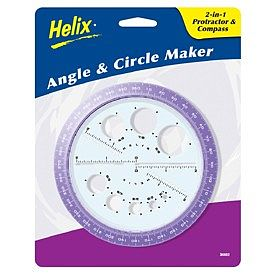 Helix-Art Angles & Circles Maker (2-in-1 Protractor & Compass)