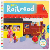 Heimburger Busy Railroad Board Book, 10 Pages Model Railroading Book #267