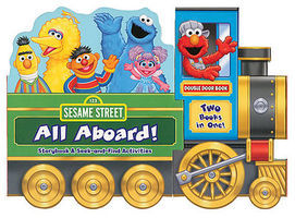 Heimburger Sesame Street All Aboard Hardcover, 10 Pages Model Railroading Book #269