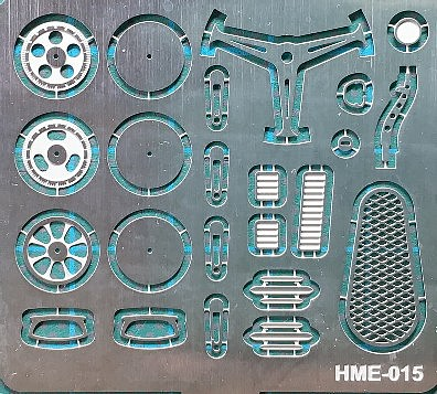Highlight 1/24-1/25 VW Beetle Detail Set 1 for TAM- Steering Wheel Spokes, Door Handles & Gear Shifter