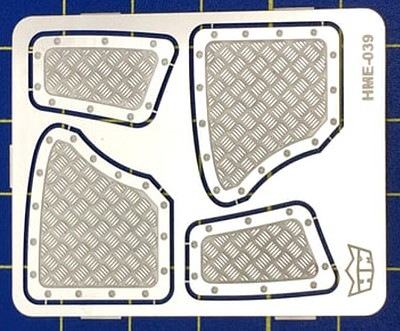 Highlight 1/24-1/25 VW Beetle Interior Aluminum Rear Panels for TAM (2 sizes)