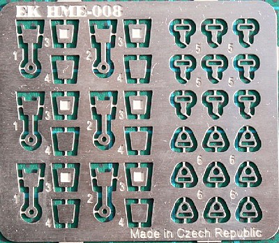 Highlight 1/24-1/25 Safety Belt Locks Set (2 Styles)