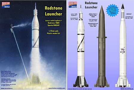 Horizon 1/72 Redstone Launcher Rocket (3 in 1) (Partially New Tool)