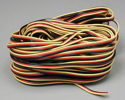 Hitec 59411 Servo Wire 50 3 Color