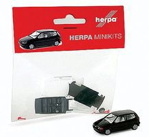 Herpa Minikit Volkswagen Polo 2-Door - Kit - Black HO Scale Model Railroad Vehicle #12140