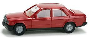 Herpa Automobile Mercedes 190 E Sedan - Minikit - Red HO Scale Model Railroad Vehicle #12409