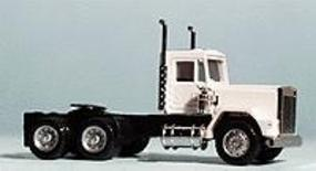Herpa Heavy Haul Pacific Tractor, Short Chassis (white) HO Scale Model Railroad Vehicle #15252