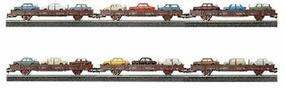 Herpa Roco/Herpa Rail Car Set with Vehicles - 18 pieces HO Scale Model Railroad Vehicle #154871