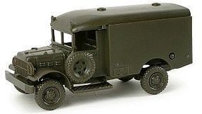 Herpa Dodge US Army Ambulance (Olive Green) HO Scale Model Railroad Vehicle #223