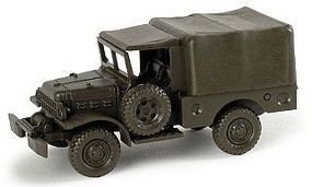 Herpa LKW 4x4 WC 3/4-Ton US Army Truck w/Canvas Cover HO Scale Model Railroad Vehicle #225