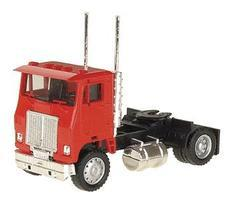 Herpa White Road Commander Cabover Tractor w/Single Axle HO Scale Model Railroad Vehicle #25236