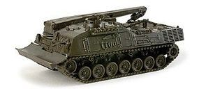 Herpa Leopard German Army Salvage Tank (Olive Green) HO Scale Model Railroad Vehicle #257