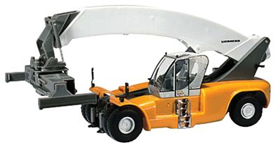 Herpa Models Liebherr Reachstacker LRS 645 Container Crane -- HO Scale Model Railroad Vehicle -- #302302