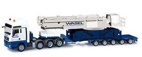 Herpa MAN Heavy-Haul, Leibherr Crane Main Frame HO Scale Model Railroad Vehicle #302753