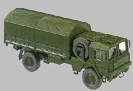 Herpa Models MAN 5-Ton Truck w/Canvas-Type Cover -- HO Scale Model Railroad Vehicle -- #470