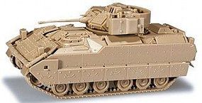 Herpa M2A2/M3A2 Bradley IFV Tank (Tan) HO Scale Model Railroad Vehicle #494