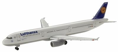 Herpa Models Lufthansa Airbus A321-100 New Generation -- Diecast Model Airplane -- 1/500 Scale -- #508797