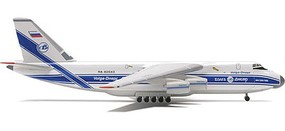 Herpa Antonov AN-124 Volga-Dnepr Diecast Model Airplane 1/500 Scale #510776
