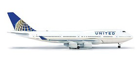 Herpa Boeing 747-400 United - 1/500 Scale