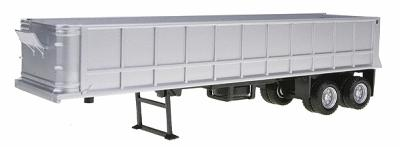 Herpa Models 36' Gravel Dump Trailer - Assembled - Silver -- HO Scale Model Railroad Vehicle -- #5281
