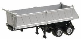 Herpa 27 Gravel Dump Trailer - Assembled - Silver HO Scale Model Railroad Vehicle #5288