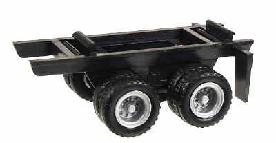 Herpa Dual Axle Trailer Chassis HO Scale Model Railroad Vehicle #5300