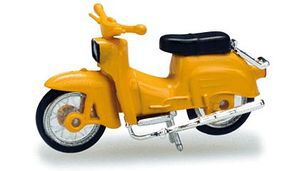 Herpa Simson KR 51/1 Motorbike - Yellow HO Scale Model Railroad Vehicle #53136