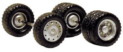 Herpa Budd Truck Wheels 2 Front Single & 10 Rear Duals HO Scale Model Railroad Vehicle #5337