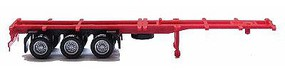 Herpa 40 Container Chassis - Assembled - Red, Black HO Scale Model Railroad Vehicle #5377
