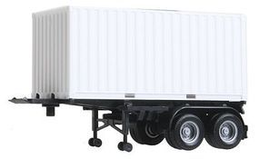 Herpa 20 Container on Chassis White Container, Black Chassis HO Scale Model Railroad Vehicle #5442