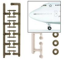 Herpa Boeing 747 Landing Gear Diecast Model Airplane Accessory 1/200 Scale #551175