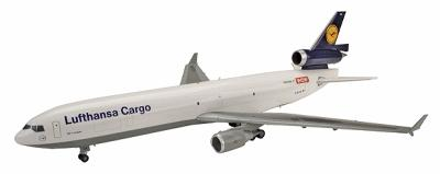 Herpa Models MCDonnell Douglas MD-11F ''Lufthansa Cargo'' -- Diecast Model Airplane -- 1/200 Scale -- #551540