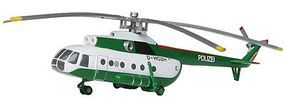 Herpa Mil 8T Helicopter Police Diecast Model Hellicopter 1/200 Scale #554893