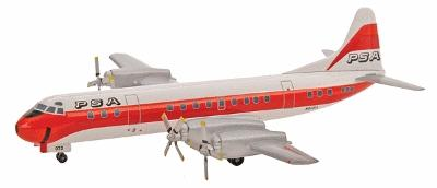 Herpa Models Lockheed L-188 Electra ''P.S.A.'' -- Diecast Model Airplane -- 1/400 Scale -- #561433