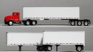 Herpa Tractor/Trailer - Kenworth T-600 - Road Train HO Scale Model Railroad Vehicle #6263