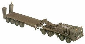 Herpa Elefant 8-Axle Transport Armored Truck w/Flatbed Trailer HO Scale Model Railroad Vehicle #630