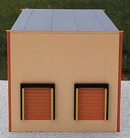 Herpa Two-Bay Modern Warehouse - Kit (Plastic) - Sand HO Scale Model Railroad Building #6320