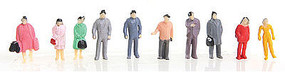 Herpa Assorted Standing Figures (50) HO Scale Model Railroad Figure #63582