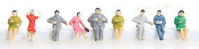 Herpa Assorted Sitting Figures (50) HO Scale Model Railroad Figure #63595