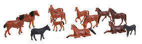 Herpa Assorted Horses (50) HO Scale Model Railroad Figure #63608