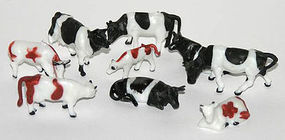 Herpa Assorted Cattle (50) HO Scale Model Railroad Figure #63612
